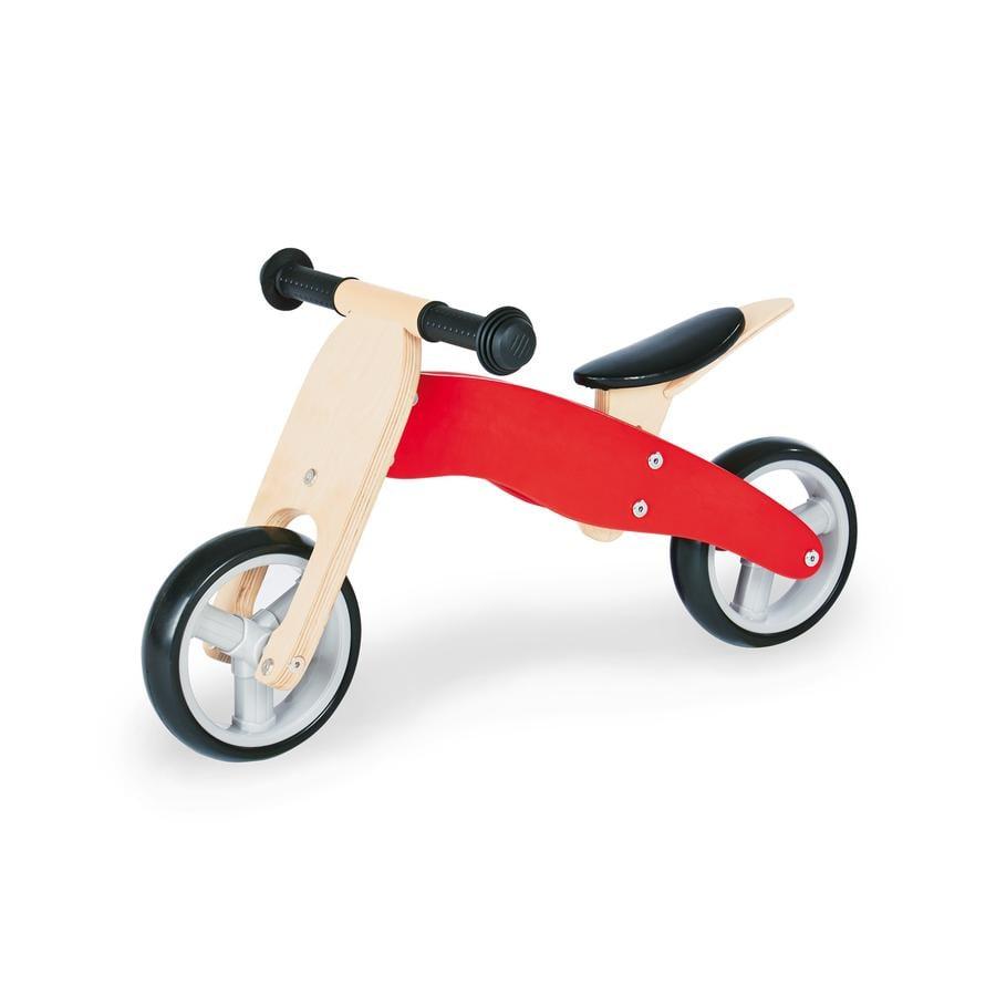 Pinolino Tricycle draisienne enfant mini Charlie bois, rouge/naturel