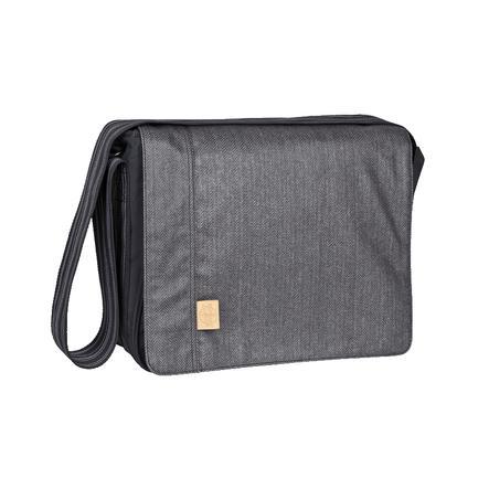 LÄSSIG Borsa Fasciatoio Messenger Bag Casual Twill black