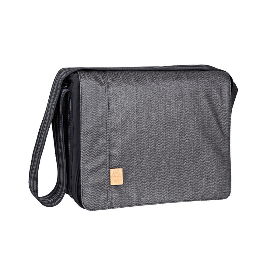 LÄSSIG Wickeltasche Messenger Bag Casual Twill black