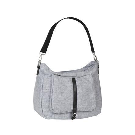 LÄSSIG skiftende grøn taske etiket skulder taske sort mélange