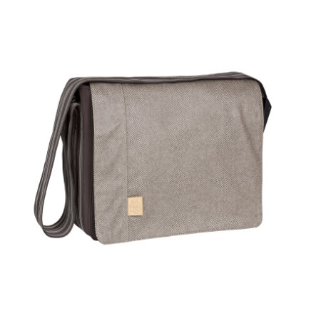 LÄSSIG Wickeltasche Messenger Bag Casual Twill choco