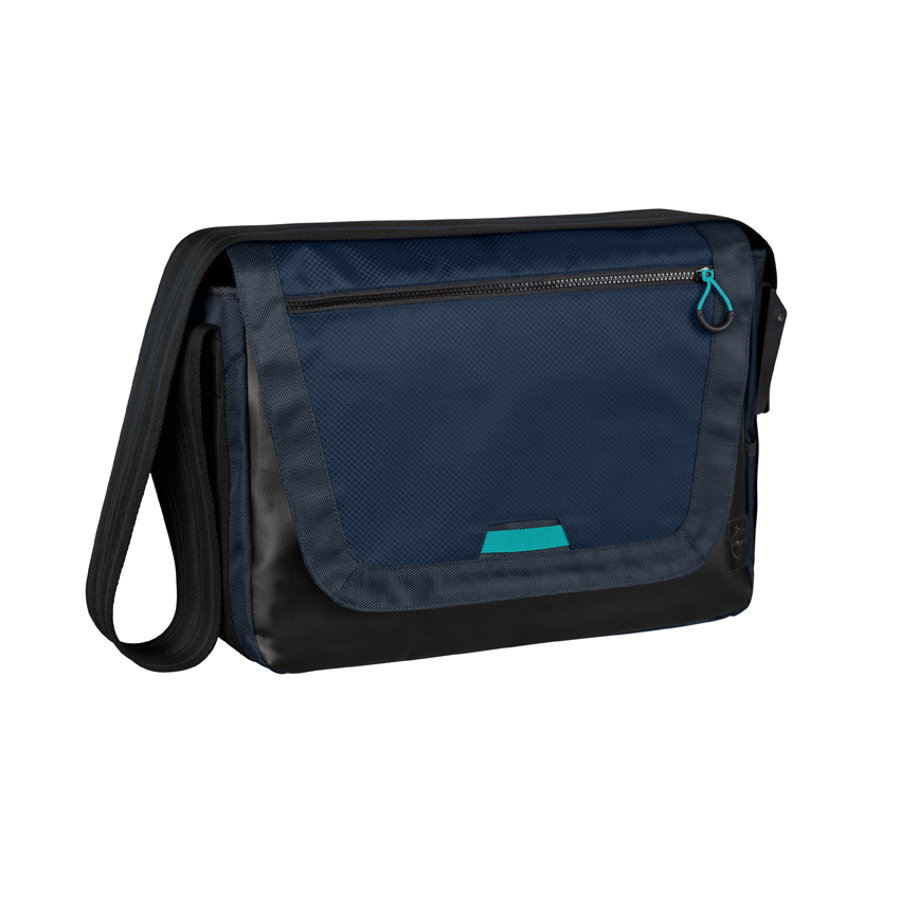 LÄSSIG Wickeltasche Casual Sporty Messenger Bag navy