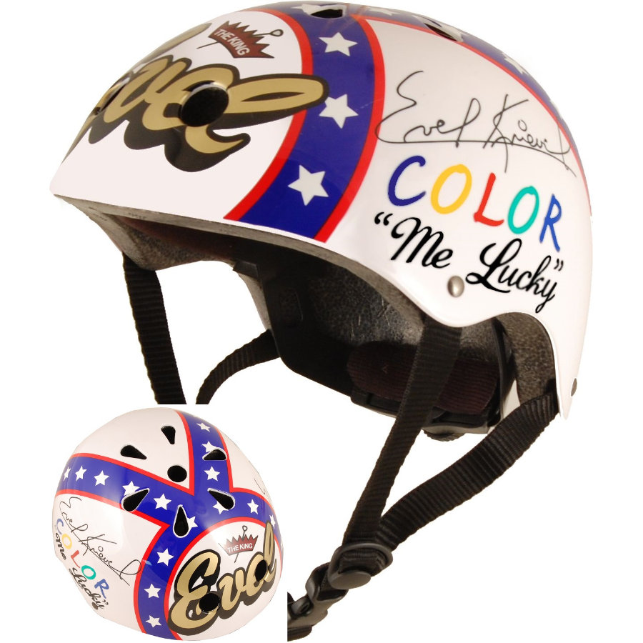 kiddimoto® Helm Limited Edition Hero, Evel Knievel - Maat M, 53-58cm