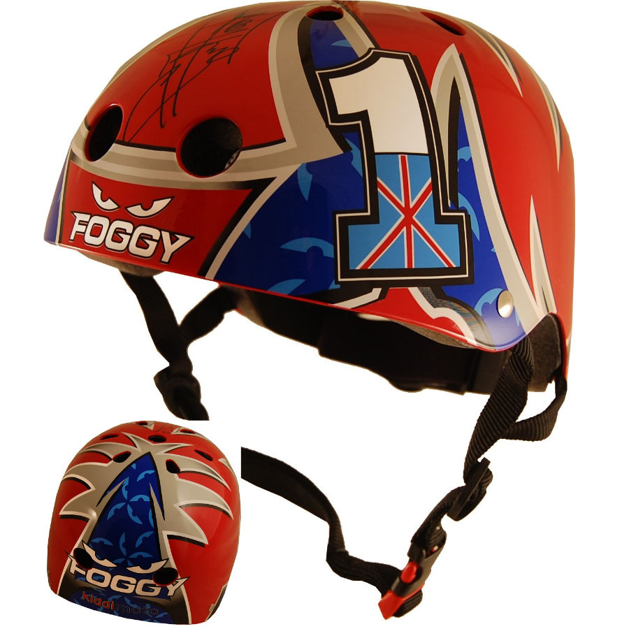 kiddimoto® Hjälm limited edition Hero, Carl Fogarty - M