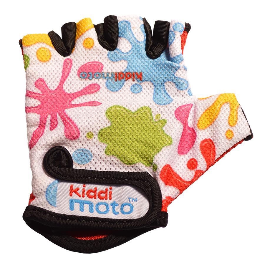 kiddimoto® Rukavice Design Sport, barevné šplíchance - M