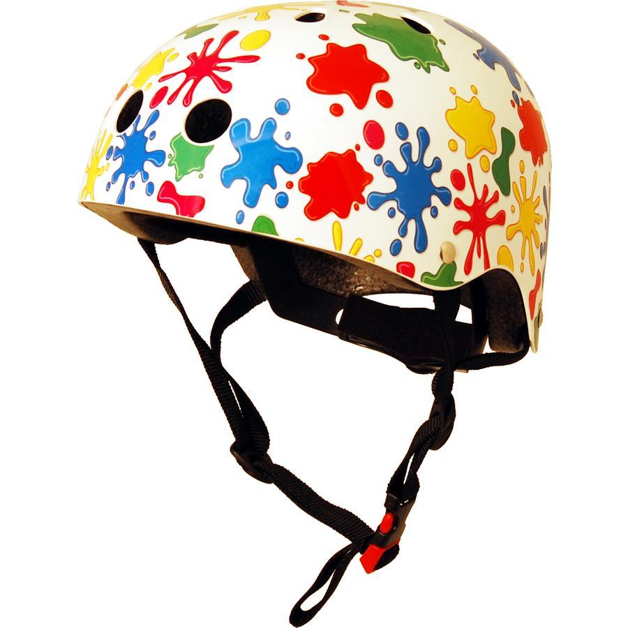 kiddimoto® Casco da bicicletta Design Sport, Schizzi colorati - Misura  S, 48-53 cm