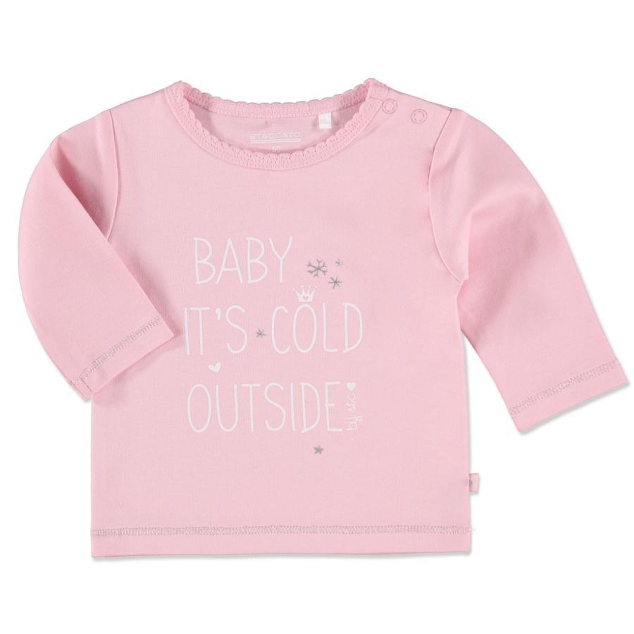 Staccato Girl s Camiseta para bebé rosada