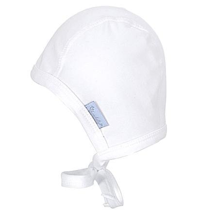 STERNTALER Baby Mütze zum Binden, weiß