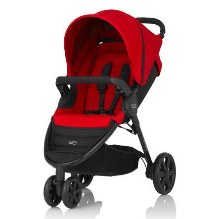 Britax Kinderwagen B-Agile 3 Flame Red, Gestellfarbe black