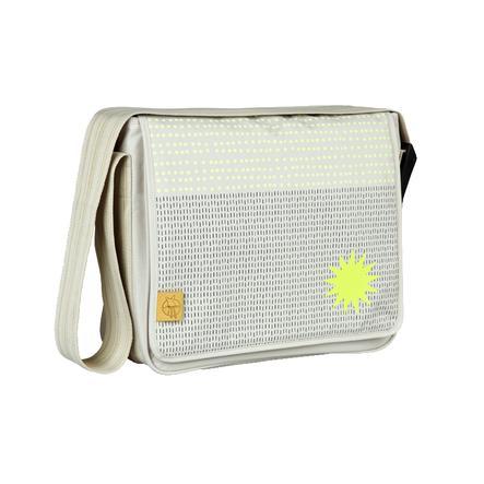 LÄSSIG borsa pannolini Casual Messenger Bag Dots & Strokes sabbia