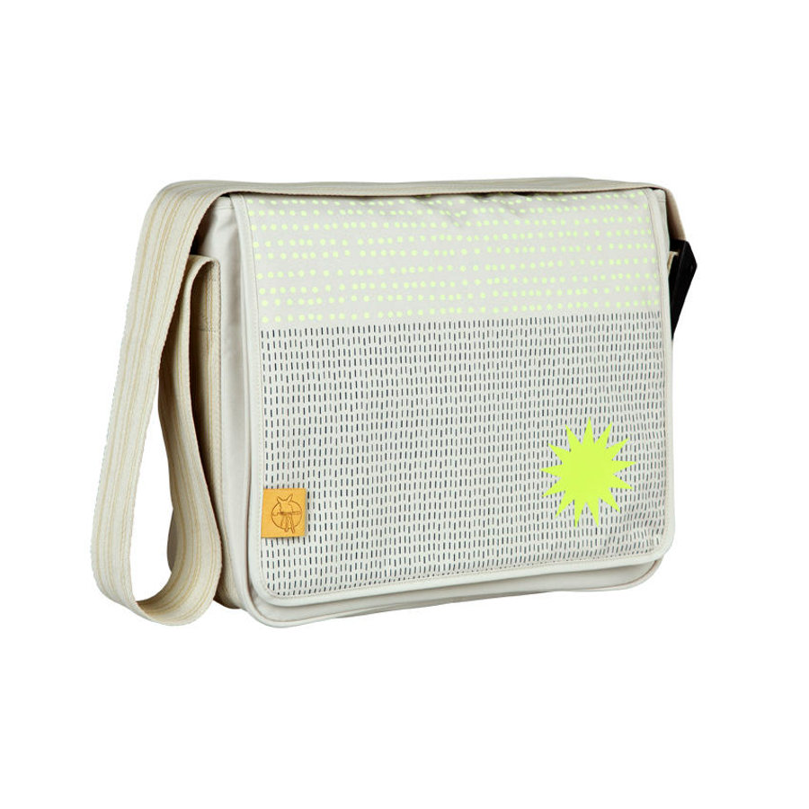 LÄSSIG Wickeltasche Casual Messenger Bag Dots & Strokes sand