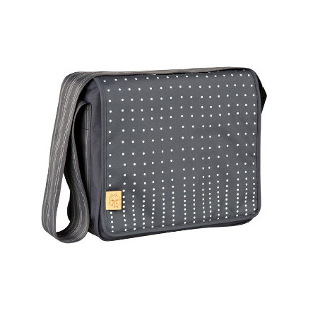 LÄSSIG Wickeltasche Casual Messenger Bag Dotted lines ebony