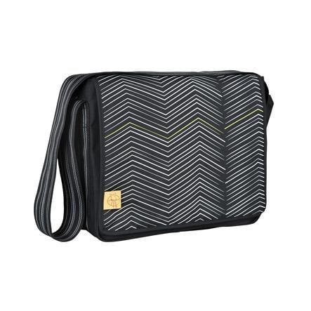 LÄSSIG Sac à langer Casual Messenger Bag Zigzag, noir/blanc