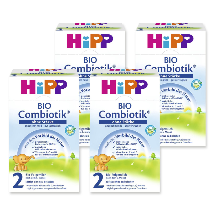 HiPP 2 Bio Combiotic ® Follow-On Formula without Starch 4 x 600g