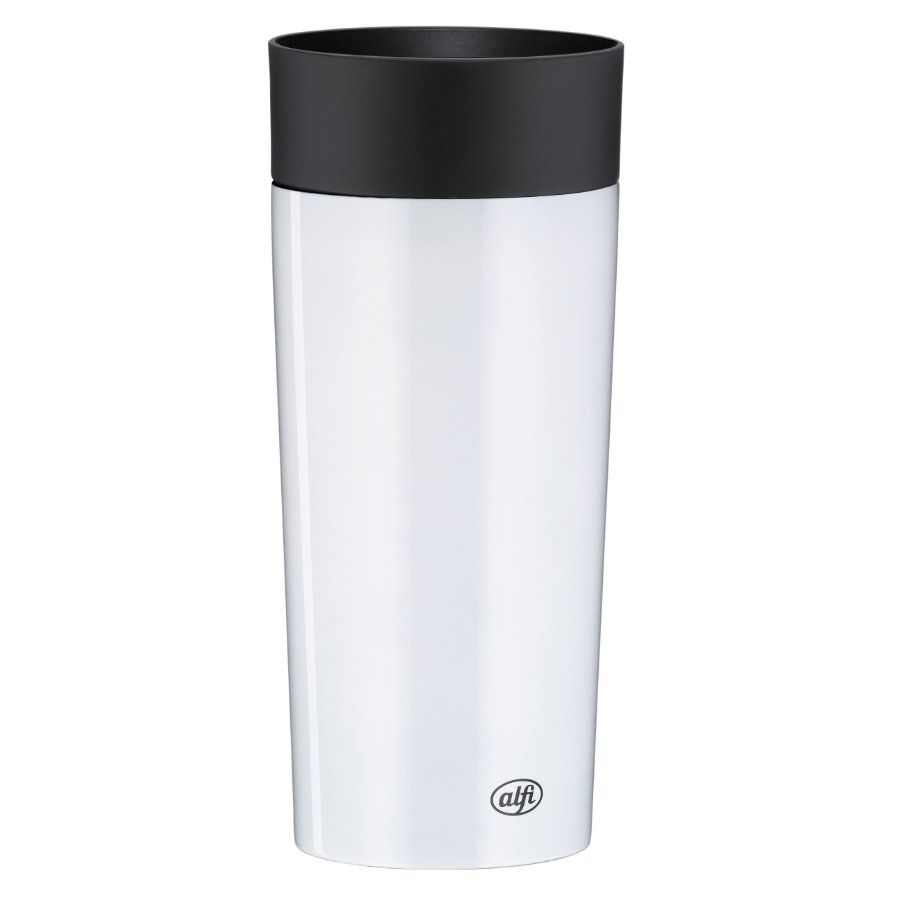 alfi Isolier-Trinkbecher isoMug Plus Edelstahl, 0,35 l weiß