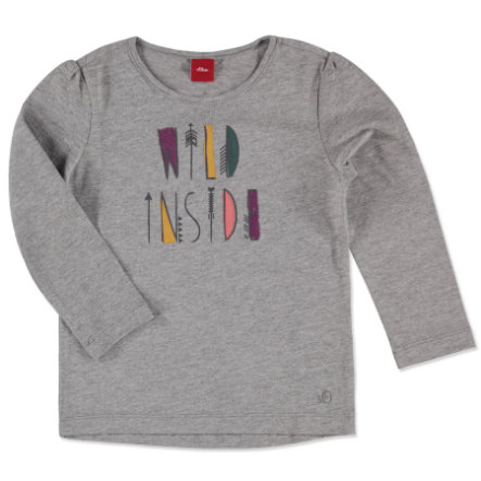 s.OLIVER Girls Mini Longsleeve grey melange