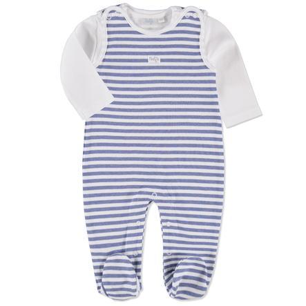 FEETJE Baby Bodysæt Stribet lyseblå