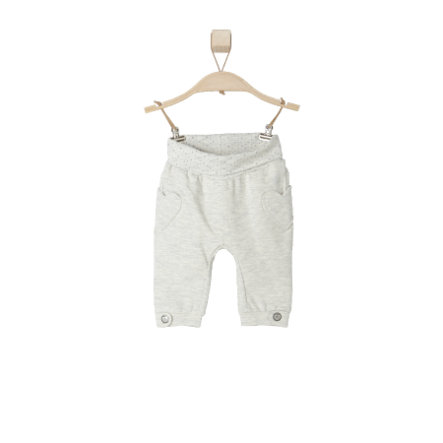 s.OLIVER Girls Baby Sweathose white melange
