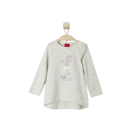 s.OLIVER Girls Mini Longsleeve white melange