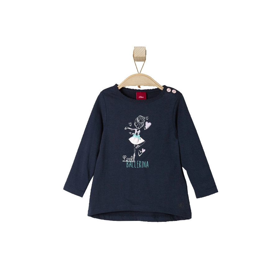 s.OLIVER Girls Mini Maglietta a Manica Lunga dark blue