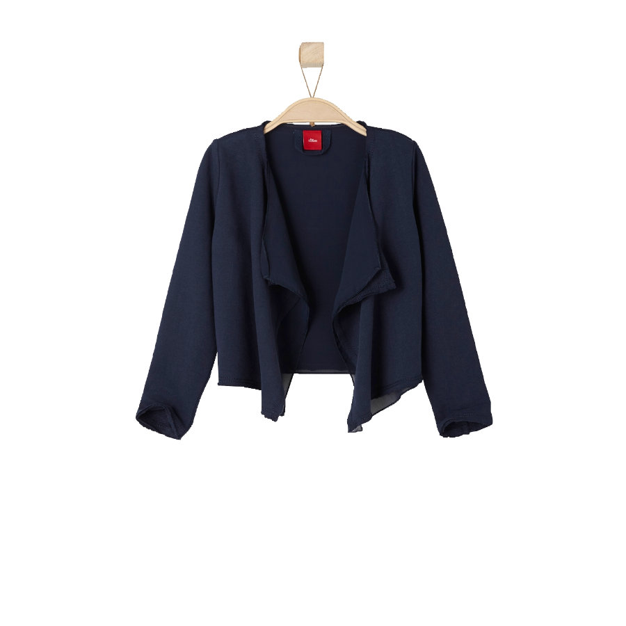 s.OLIVER Girl s Mini Sweat Jacket bleu foncé