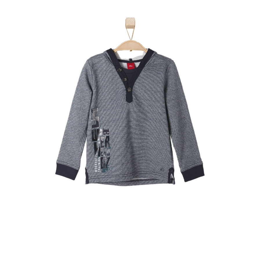 s.OLIVER Boys Mini Sweatshirt dark blue knit