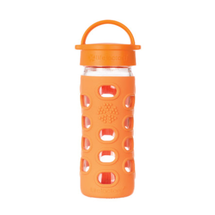 "LIFEFACTORY Vattenflaska Glas ""orange"" 350 ml"