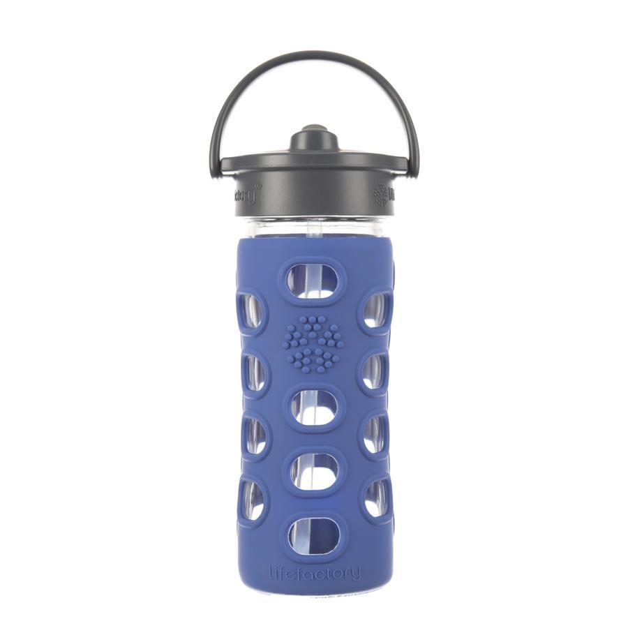 """LIFEFACTORY Vattenflaska Glas """"cobalt"""" med tätt lock 350ml"""