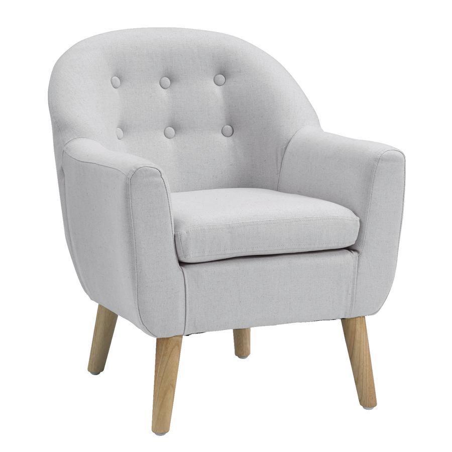 KIDS CONCEPT Fotel mały 49x51x58 cm, kolor szary