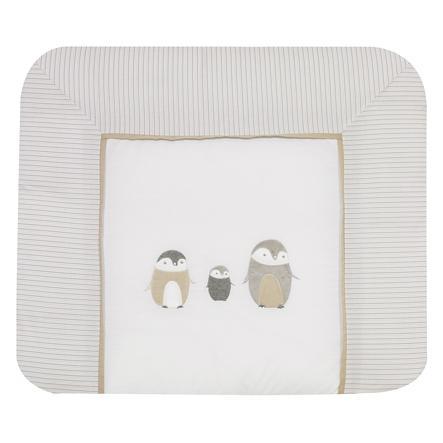 ALVI Matelas à langer et housse Famille Pingouin, beige, 70 x 85 cm