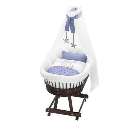 ALVI Set biancheria per culla Birthe ''Orsetti'' blu