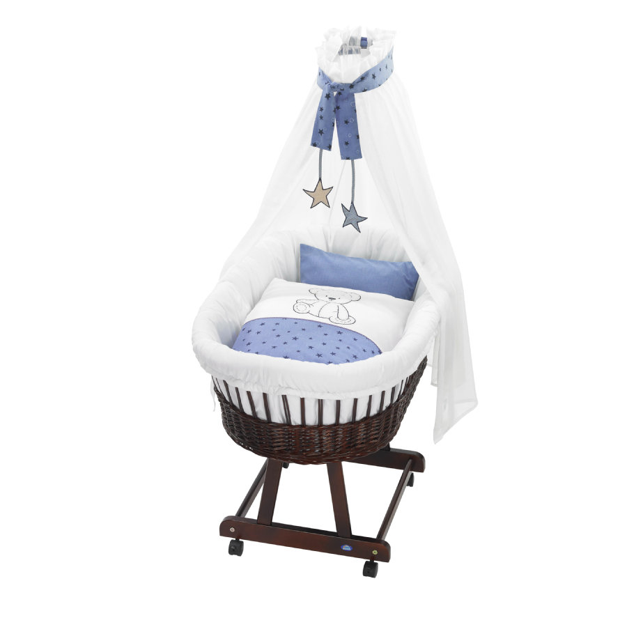 ALVI Set pour berceau Birthe, Enfants des ours, bleu