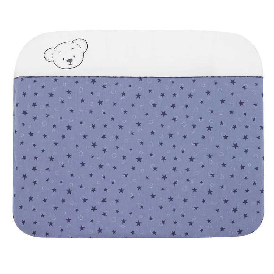 Alvi Wickelauflage und Bezug Bärenkinder blau 70x85 cm