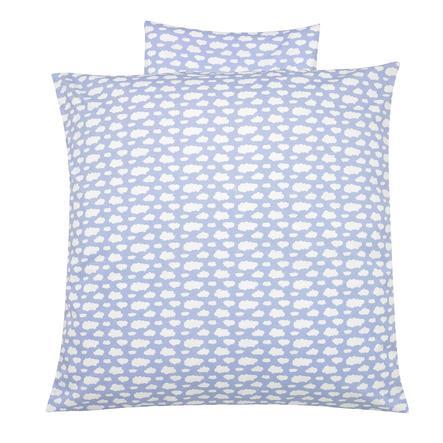 Alvi Bettwäsche 80 x 80 cm, Wolke Voile blau