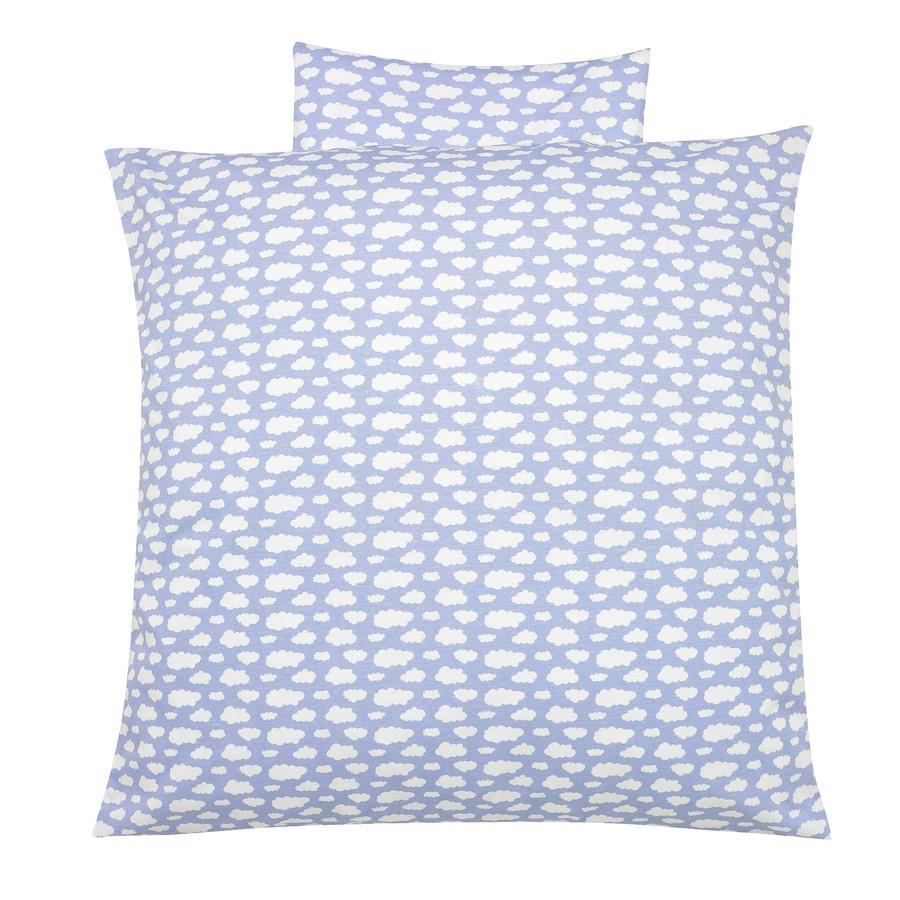 Alvi Ropa de cama 80 x 80 cm, nubes fondo azul