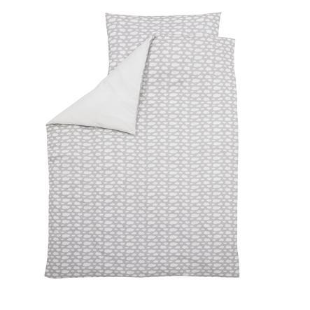 ALVI Parure de lit Voile à nuages, gris, 100 x 135 cm