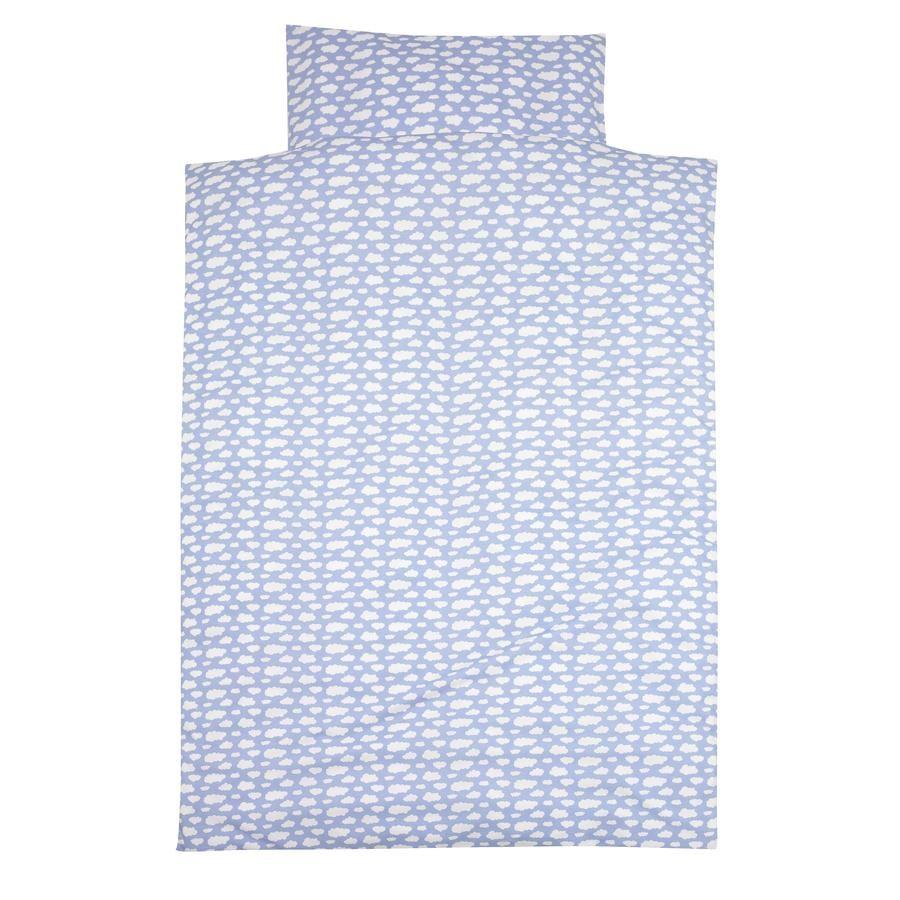 ALVI Bettwäsche Wolke Voile blau 100x135 cm
