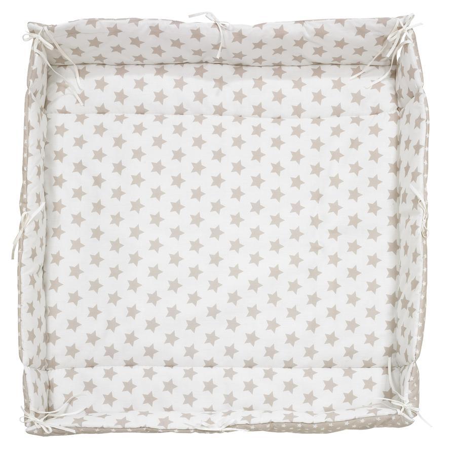 ALVI Tour de parc universel, Grandes Étoiles, beige, 70+100 cm