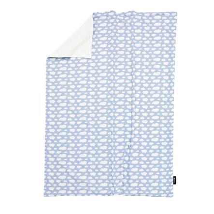 ALVI Couverture bébé Jersey, Nuage, bleu, 75 x 100 cm