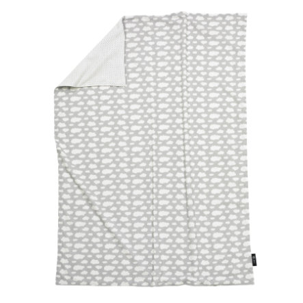 "ALVI Copertina Jersey ""Nuvole"" grigio 75x100 cm"