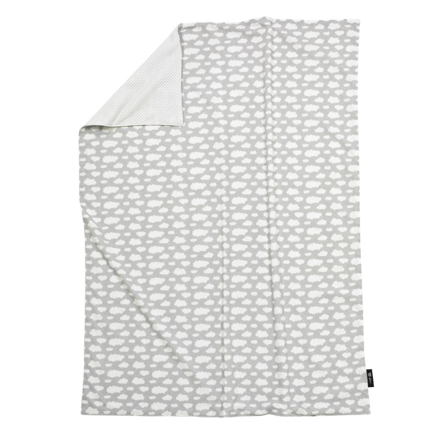ALVI Babydecke Jersey Wolke silber 75x100 cm
