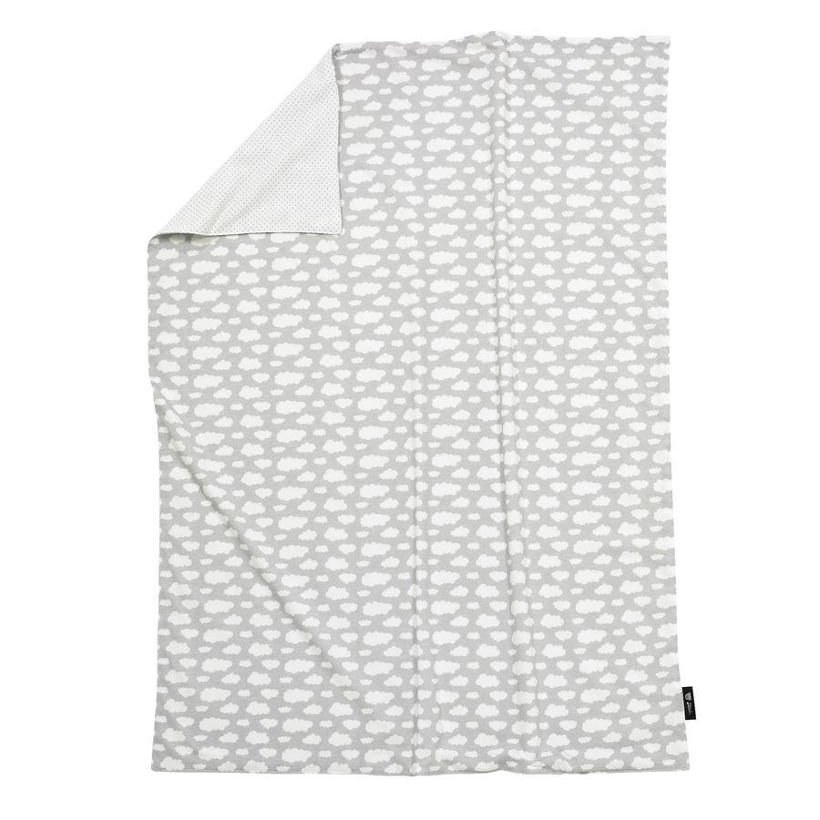 ALVI Couverture bébé Jersey, Nuage, argent, 75 x 100 cm