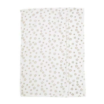 ALVI Microfaserdecke Sterne beige 75x100 cm