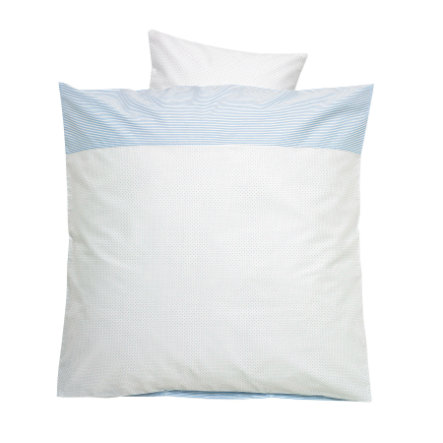 ALVI Parure de lit Little Dots, bleu, 80 x 80 cm