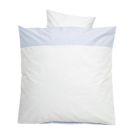 Alvi Ropa de cama 80 x 80 cm, puntitos azul