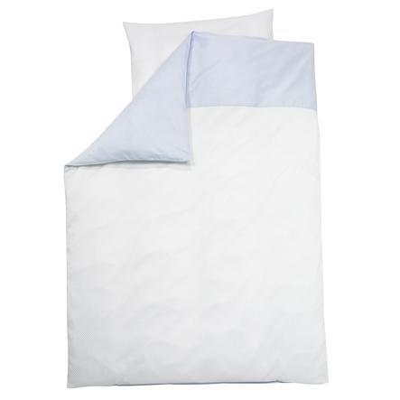 Alvi® Parure de lit enfant Little Dots, bleu 100x135 cm