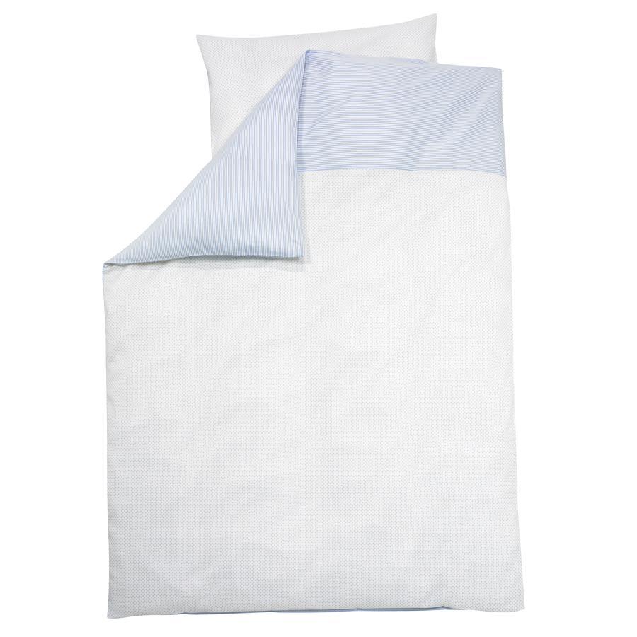ALVI Parure de lit Little Dots, bleu, 100 x 135 cm