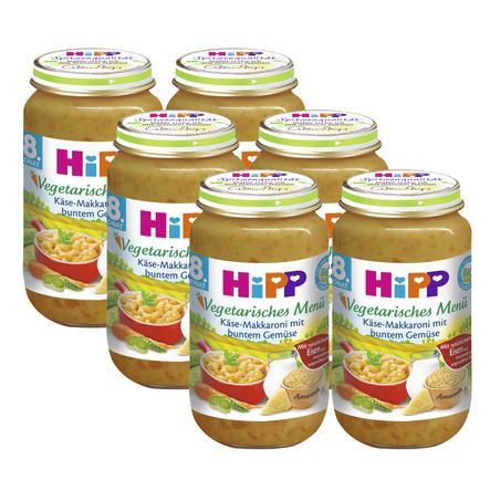 HiPP Käse-Makkaroni mit buntem Gemüse 6 x 220 g
