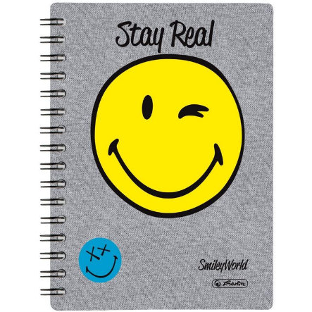 HERLITZ Spiral-Boutiquebuch SmileyWorld Fancy, A5, 100 Blatt, kariert