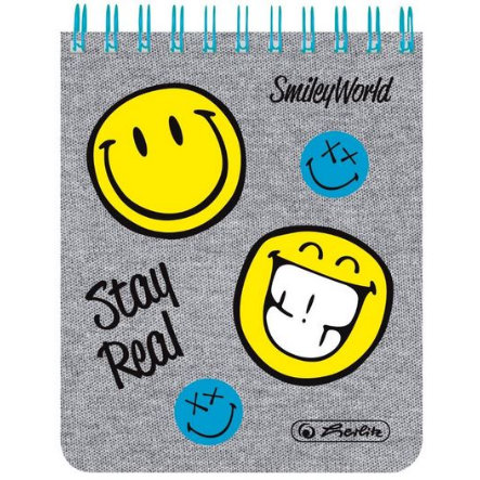 HERLITZ Spiralnotizblock SmileyWorld Fancy, 8x10cm, 70 Blatt, kariert